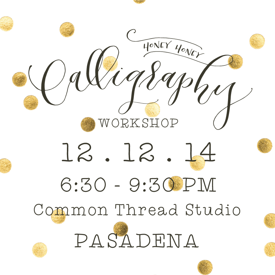 Holiday Calligraphy Workshop