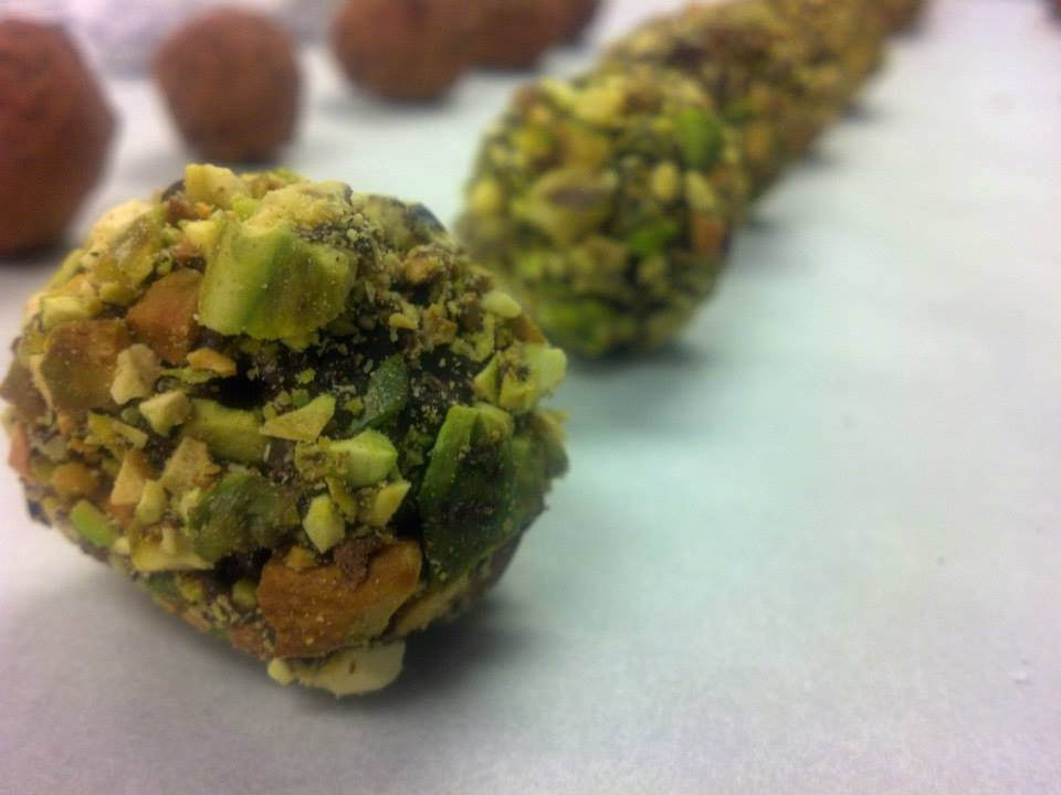 Chefin's Pistachio Truffles
