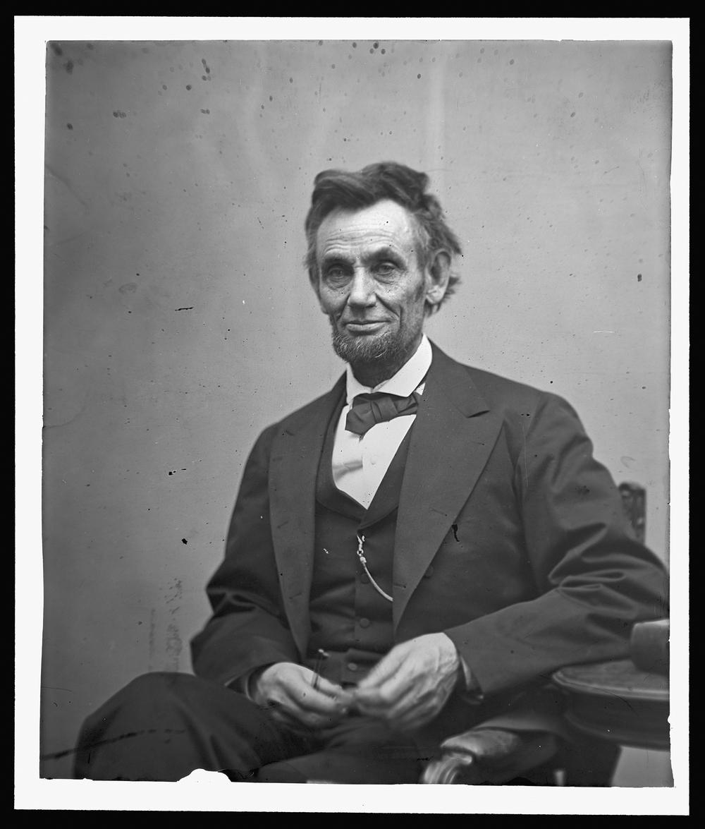 16° Presidente dos EUA, Abrahan Lincoln - preto e branco