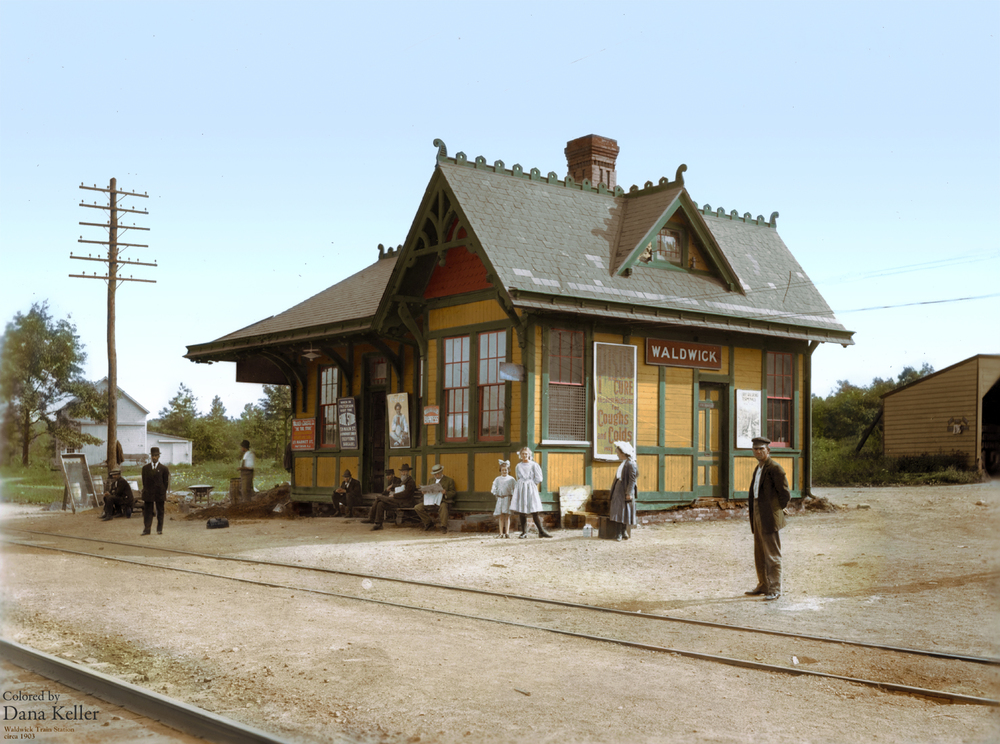 Waldwick Train Station, ca. 1903