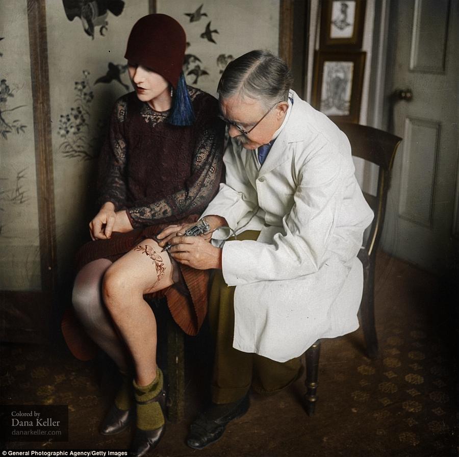 British Tattoo Artist George Burchett, ca 1930