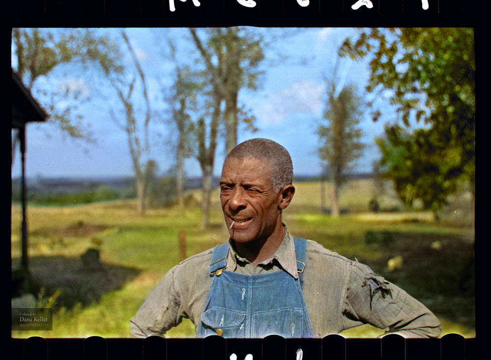 """Negro tenant farmer, rehabilitation client. Jefferson County, Kansas"", 1938."