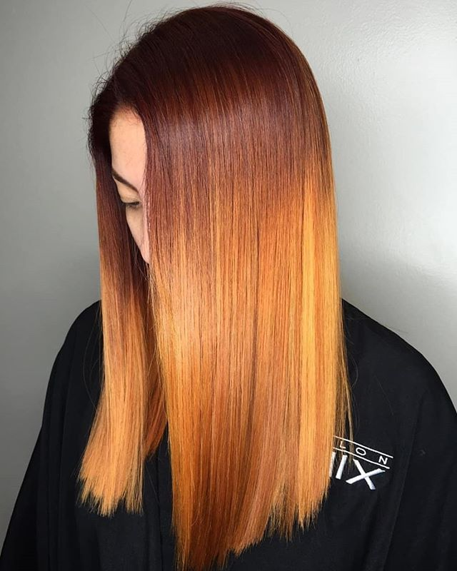 Beautiful color melt by @hairbysabrii just in time for Fall. 🍂