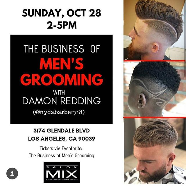 📣 Calling all hairdressers! 🚨 Have you registered yet? Register on Eventbrite and join us for a class on The Business of Men's Grooming by @nydabarber718 on Sunday Oct. 28th LINK IN BIO