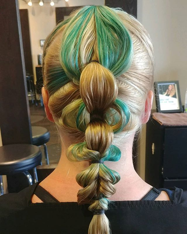 Blowouts aren't the only option. Braided styles are a fun alternative. 🧜 Cut, Color, and Style by @grandstyle9