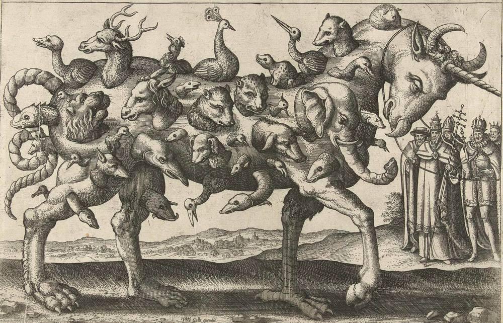 More than one animal - Pieter van der Borcht, Antwerp 1578