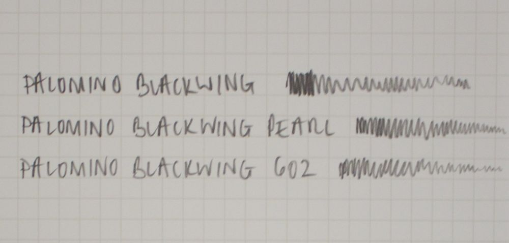 Written comparison of the Blackwing pencils