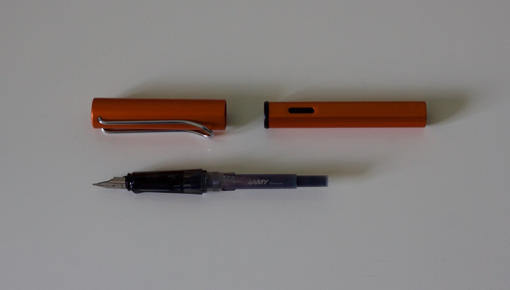 All the parts of the Lamy AL Star, including the T-10 cartridge