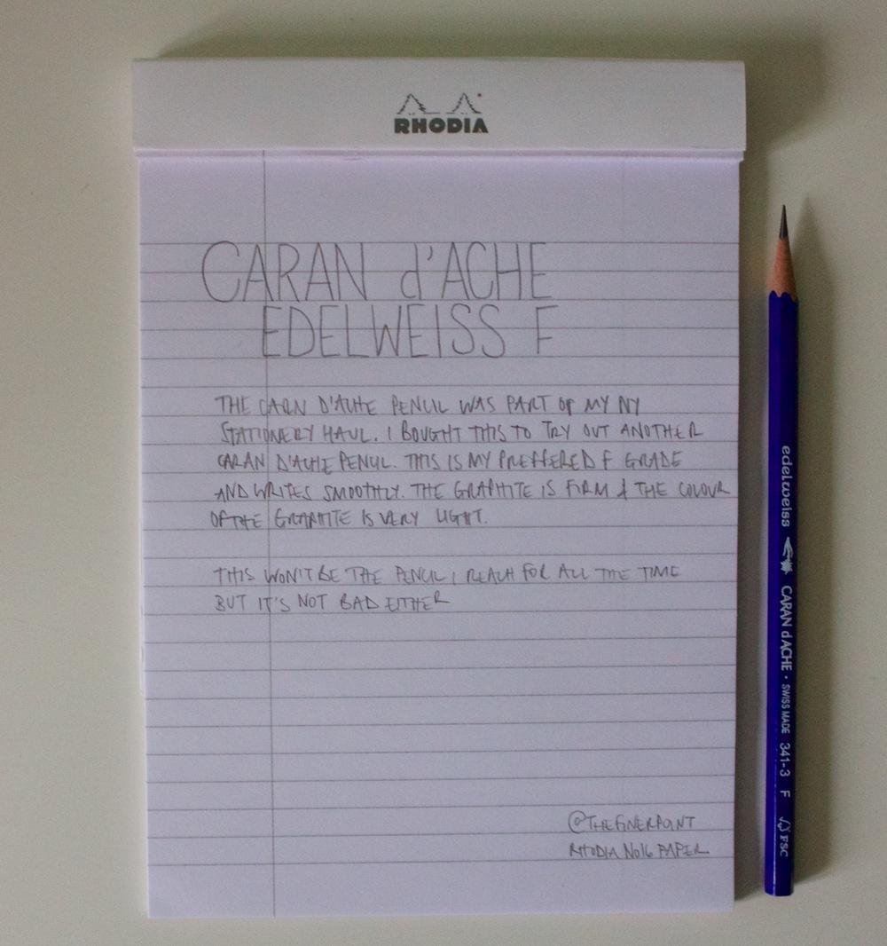 Hand written edelweiss review