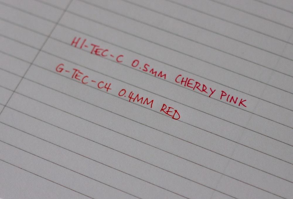 Cherry Pink vs Red