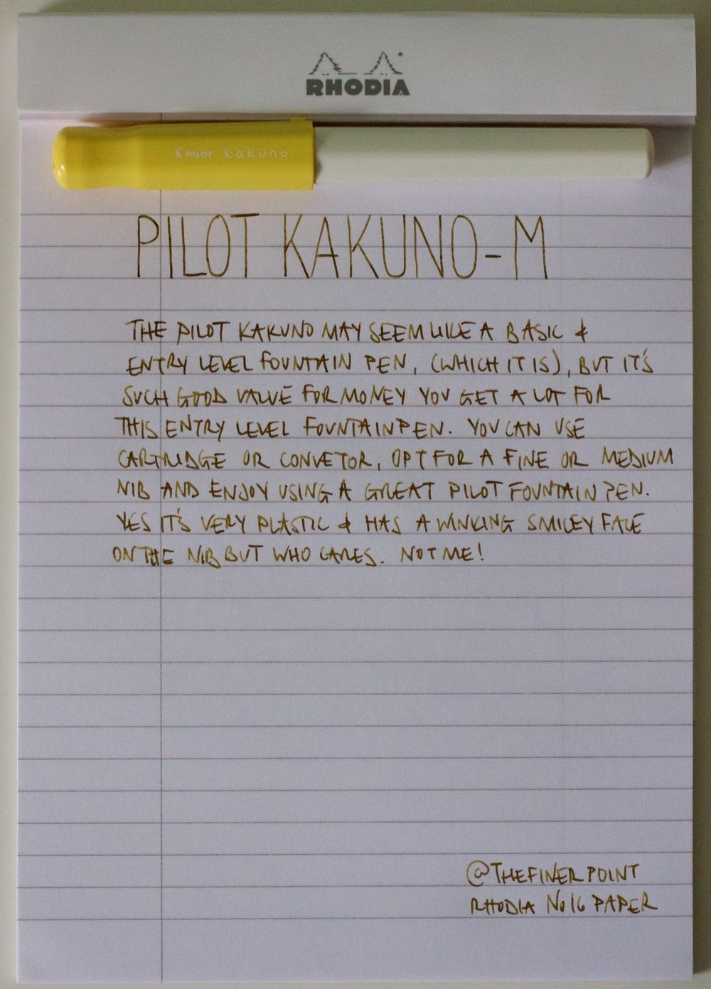 My written review with Pilot Iroshizuku Ina-ho