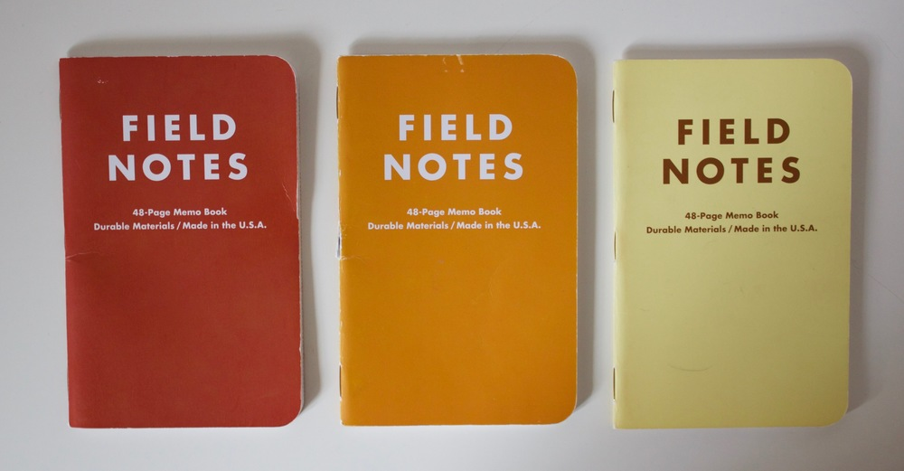 3 of my used Drink Local notebooks
