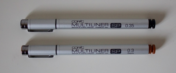 Copic Multiliner SP Water & Copic Proof, Pigment Ink - Size 0.03, 0.05,
