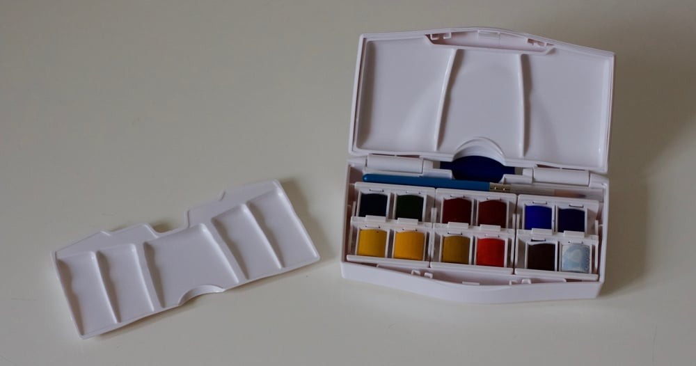 My small Winsor and Newton watercolour set