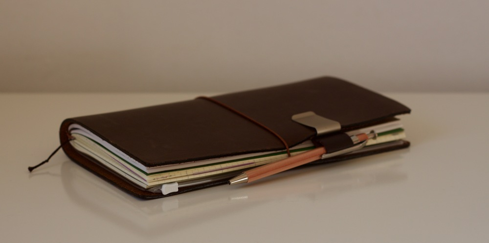 My Travelers Notebook and the Delfonics Wood Pen