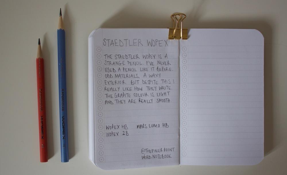 Wopex handwritten review in a Word Notebook