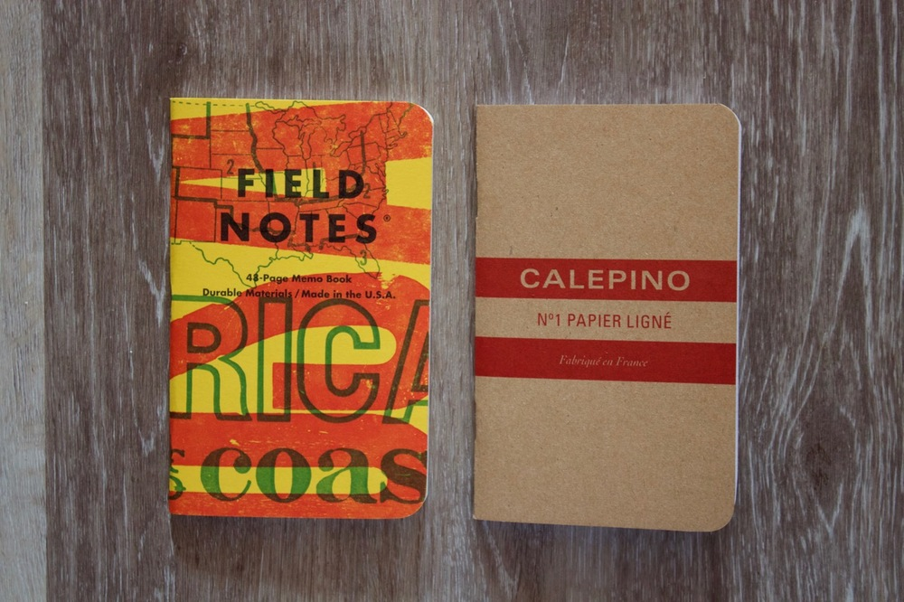 Field Notes side by side with the Calepino pocket notebook
