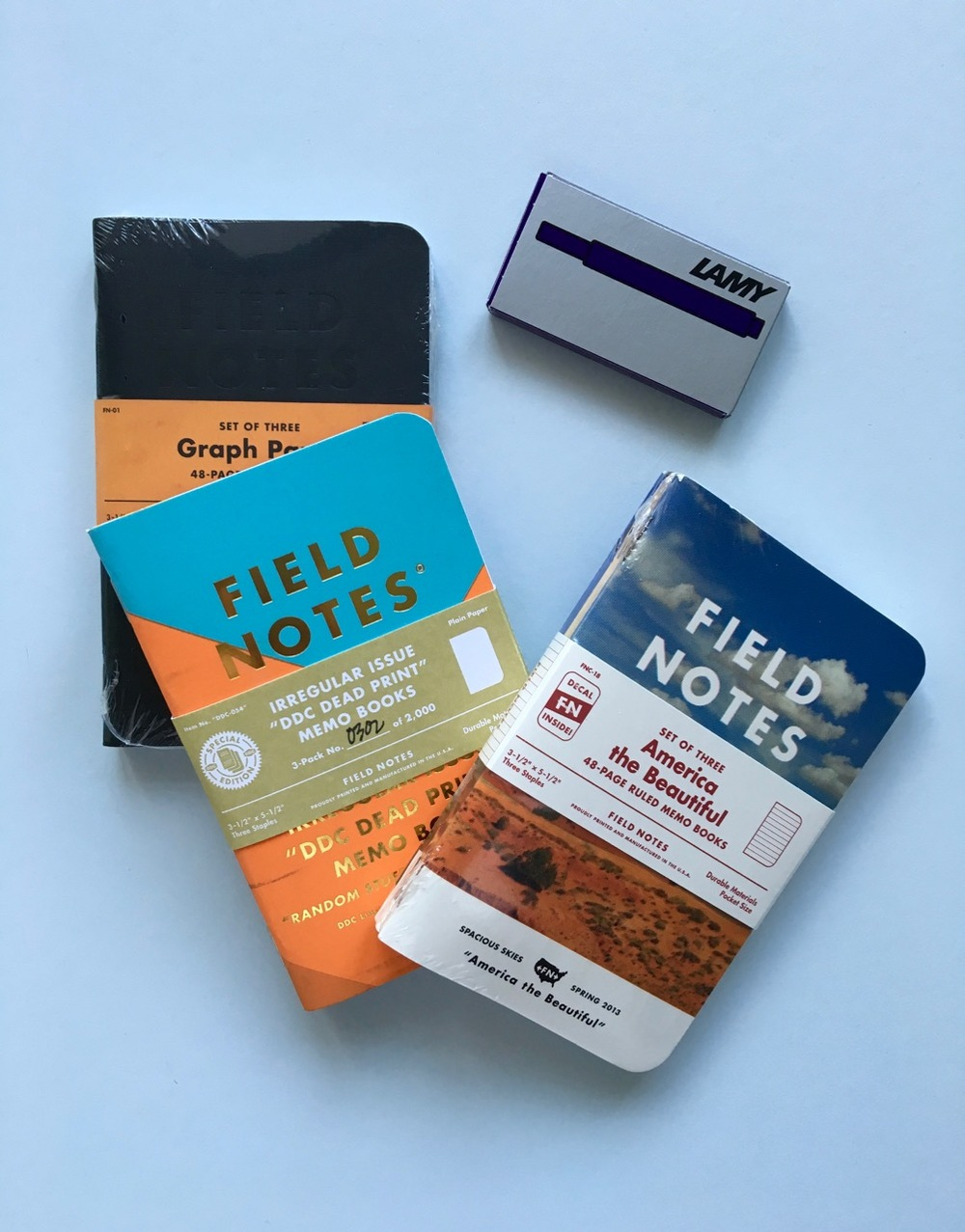 Some of my limited edition Field Notes