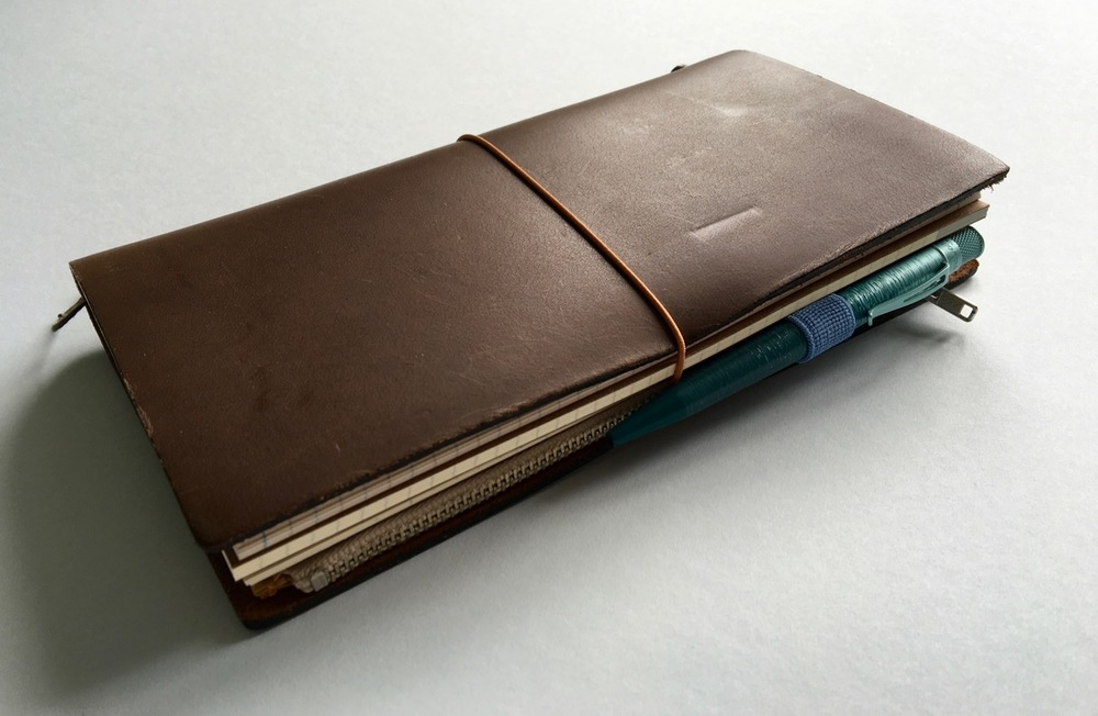 The Ocean Slim Tornado used in my Leuchtturm1917 pen look in my Travelers Notebook