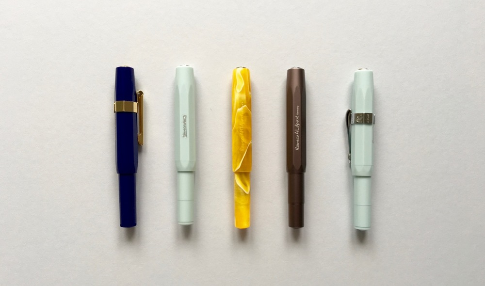 Blue Classic Sport, Mint Skyline Sport, ART Sport, Grey AL Sport, Mint Skyline Sport fountain pens