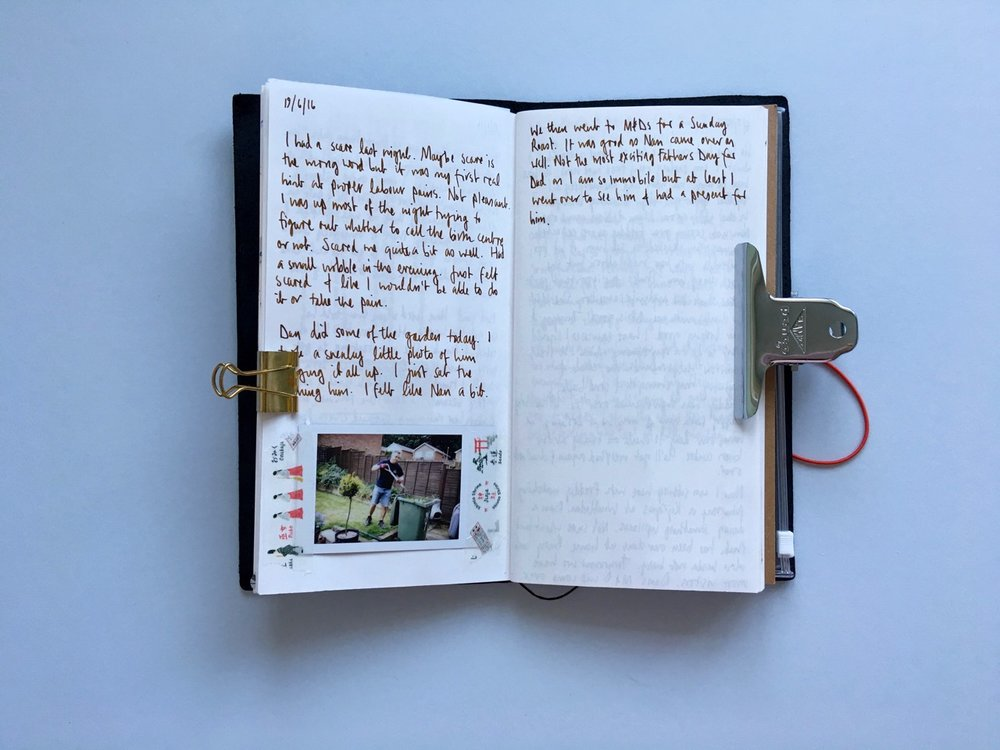 An example journal page