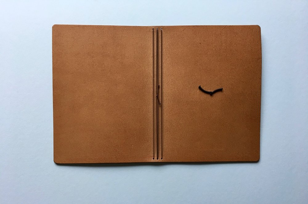 The smooth finish on the interior of the leather cover