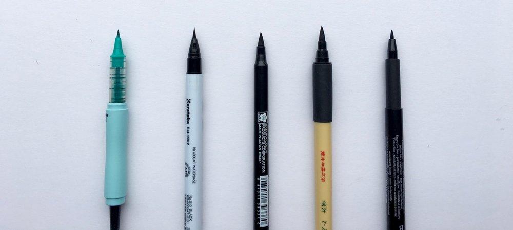 All the brush pens
