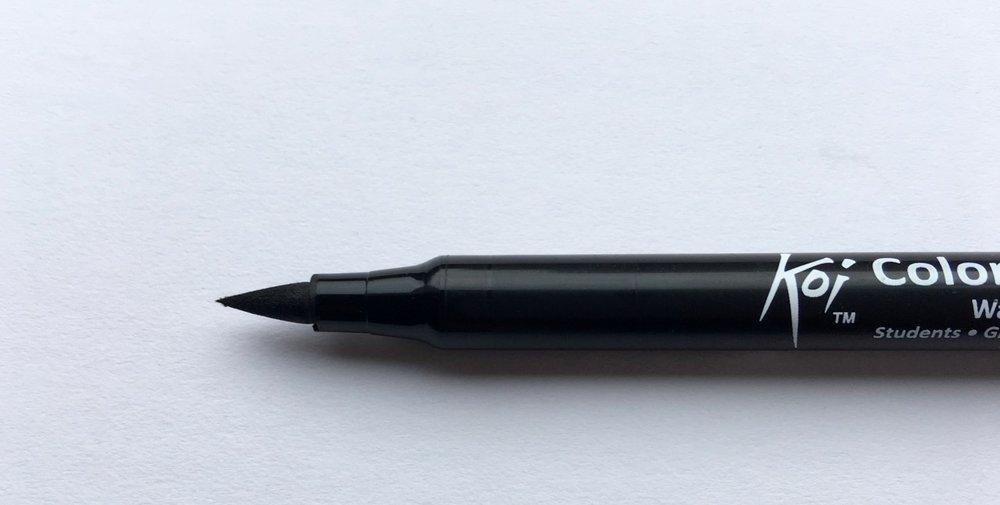 Sakura Koi Brush pen tip
