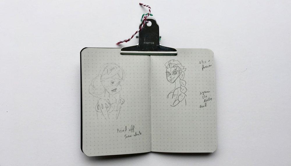 Doodles in my notebook