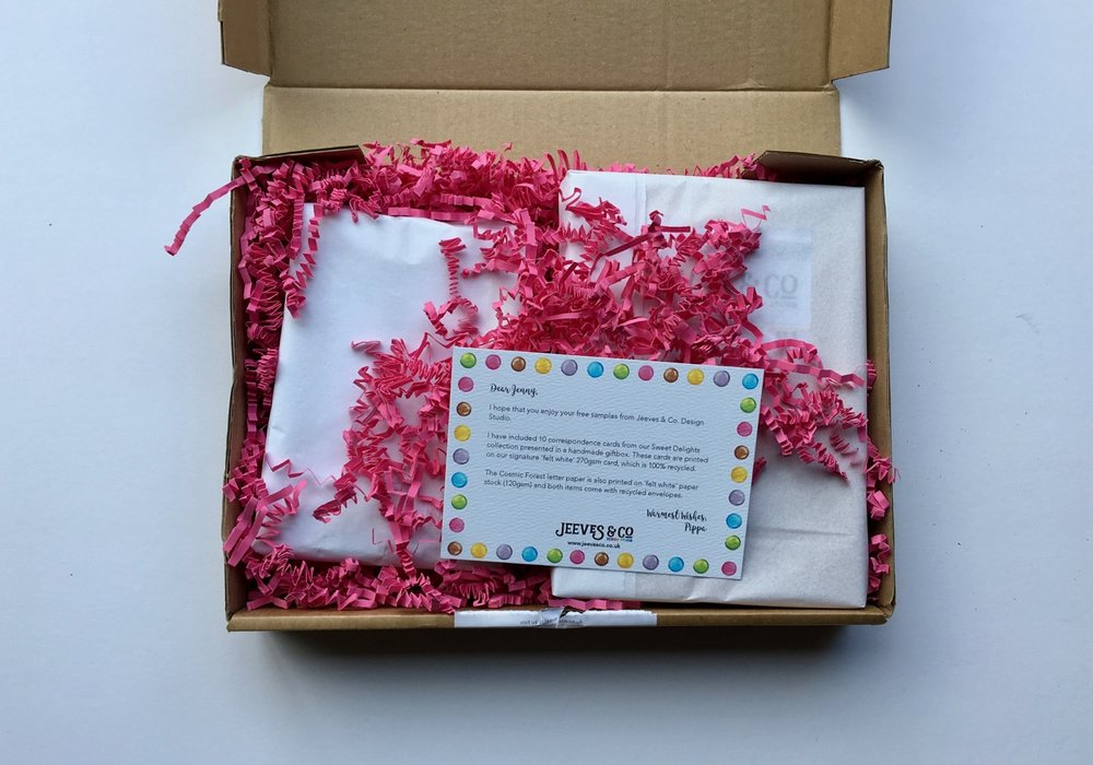 Lovely packaging from Jeeves and Co.