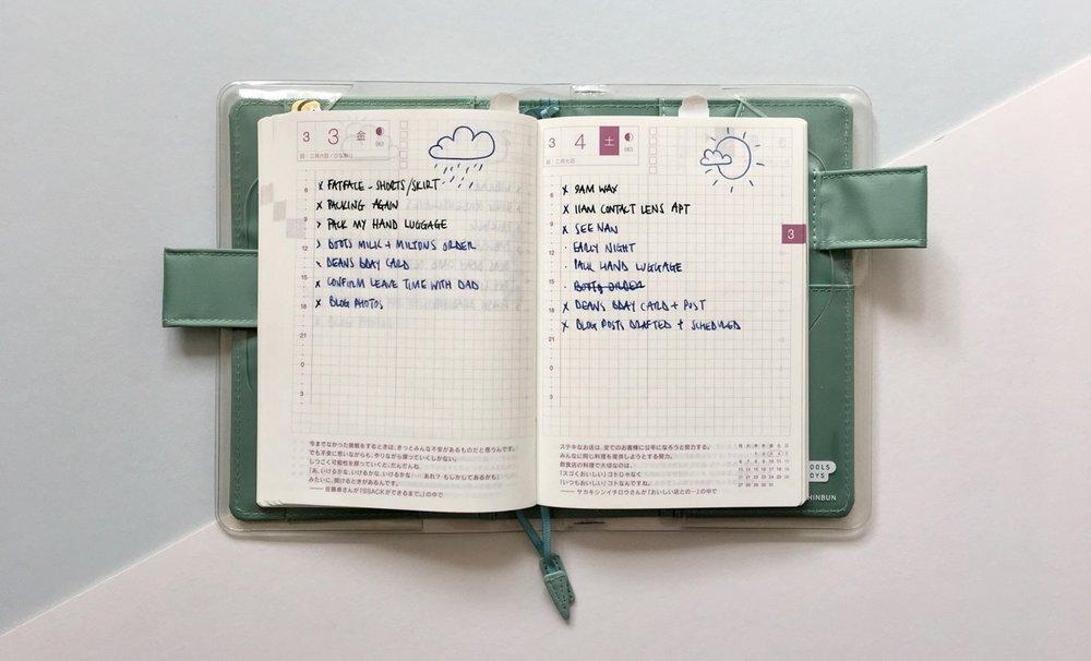 My A6 Hobonichi Techo bullet journal