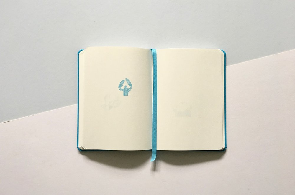 A blank page view, also love the blue page marker. So pretty