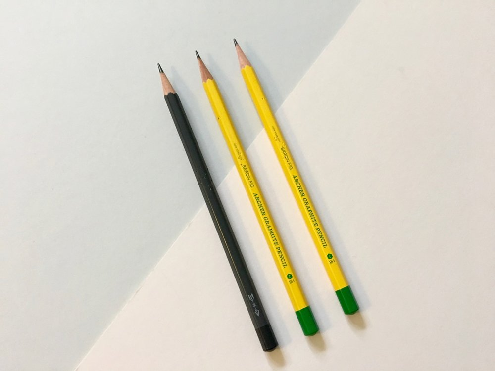 Standard Archer pencil and the School Set pencils.