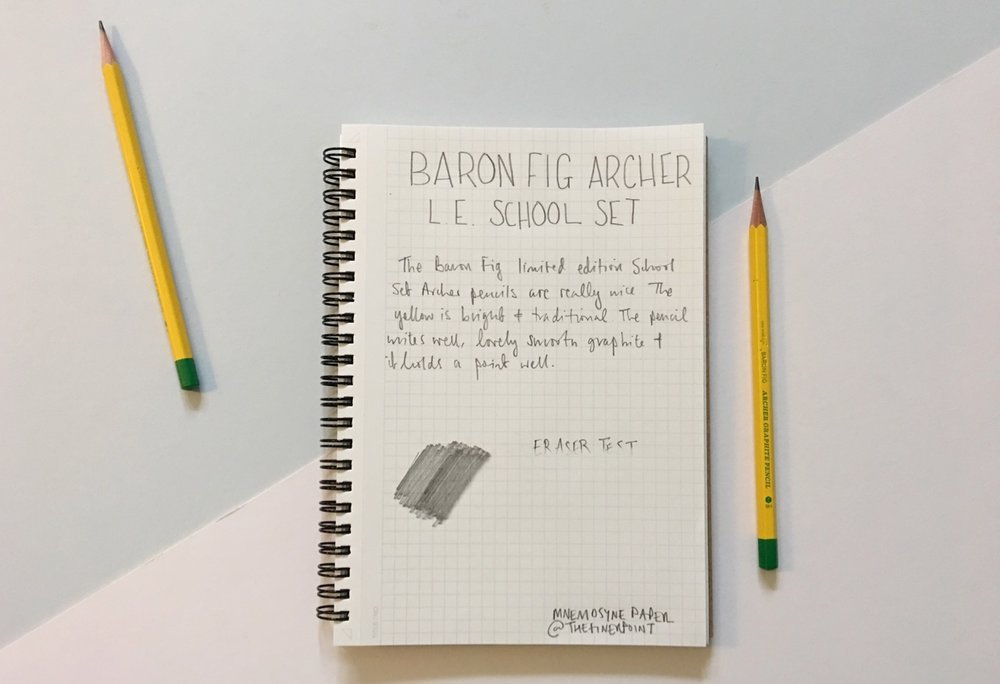Writing sample of the Archer pencils.