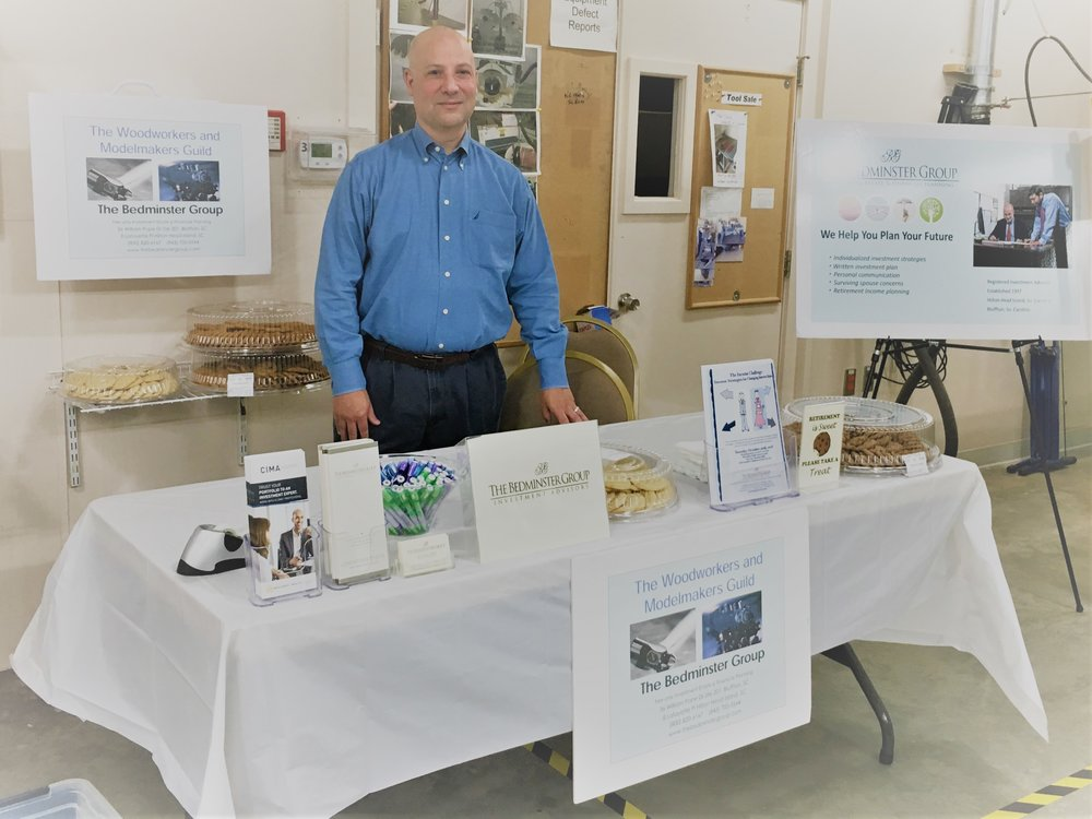 Gene Balerna manning the Cookie Table at the Sun City Woodworkers & Model Makers Guild Open House