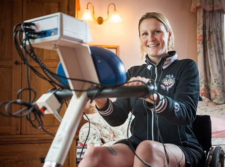 Claire Lomas - A regular user of her RehaStim first generation unit