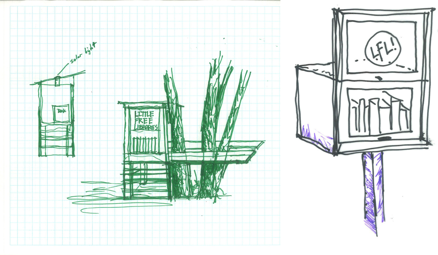 Out of office and in the community little free libraries studio little free library sketchg ccuart Gallery