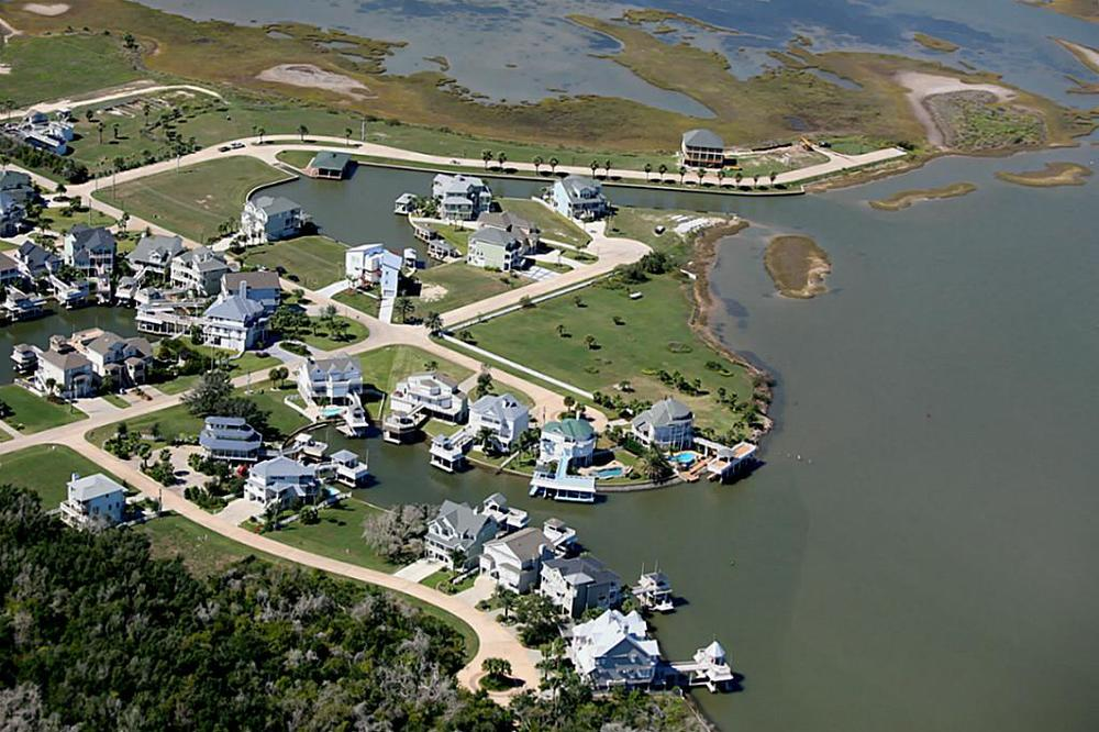 Lafitte's Cove Neighborhood in Galveston, Texas
