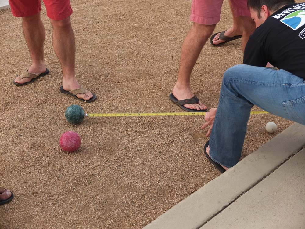 Bocce is a sport of precision. No messing around.