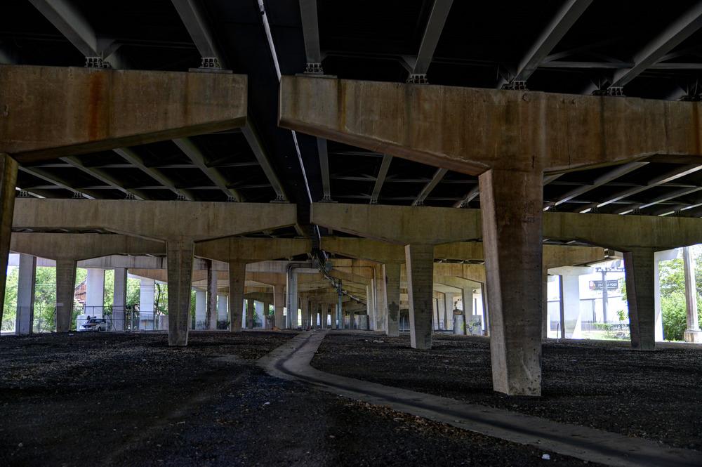 Underneath I-30