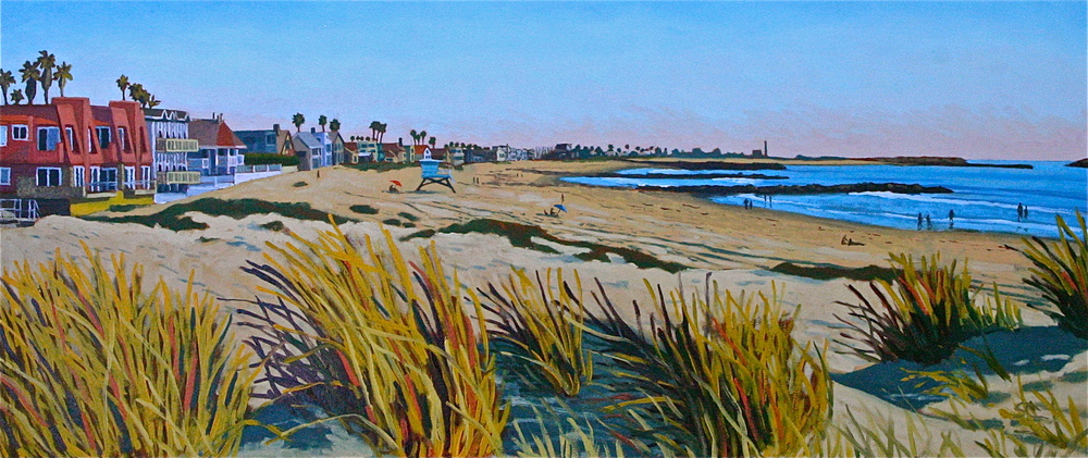 """Pierpont Dunes"" oil on birch panel 18 x 42 sold"