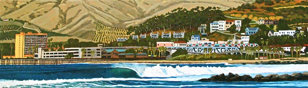"""Pierpont Bay Perfection"" oil on birch panel 14 x 48 (sold)"