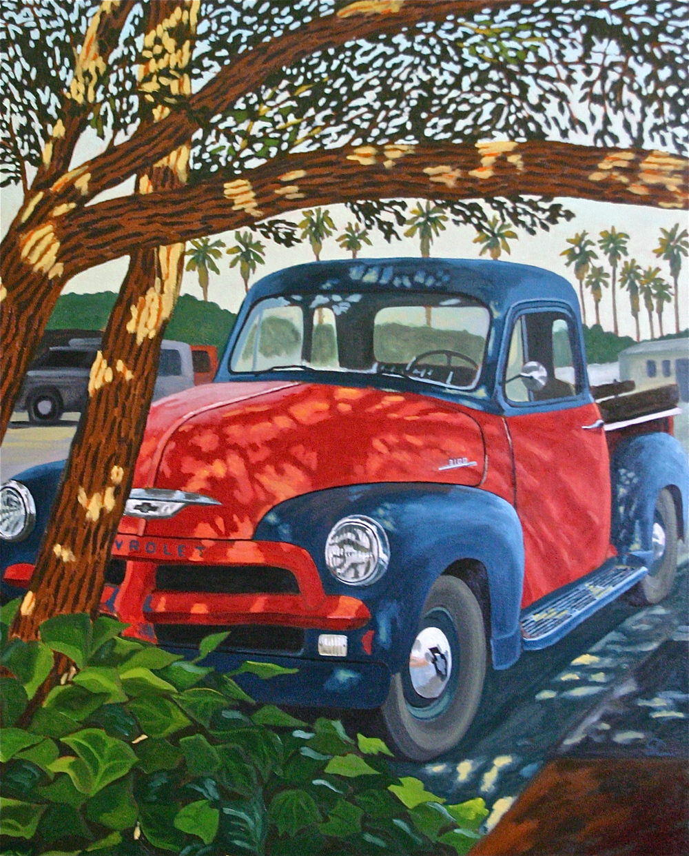 """Resting in the Shade"" oil on canvas 34 x 42, sold."