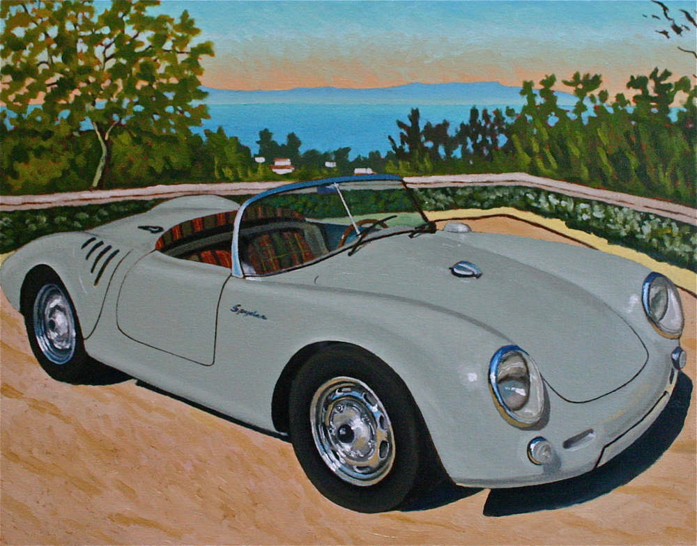"""Spyder by the Sea"" oil on canvas 24 x 36, sold."