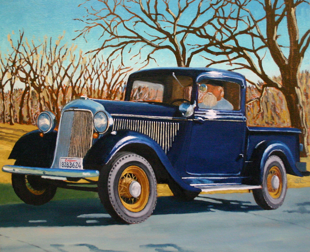 """Bud's Cool Ride"" oil on canvas 20 x 24, sold."