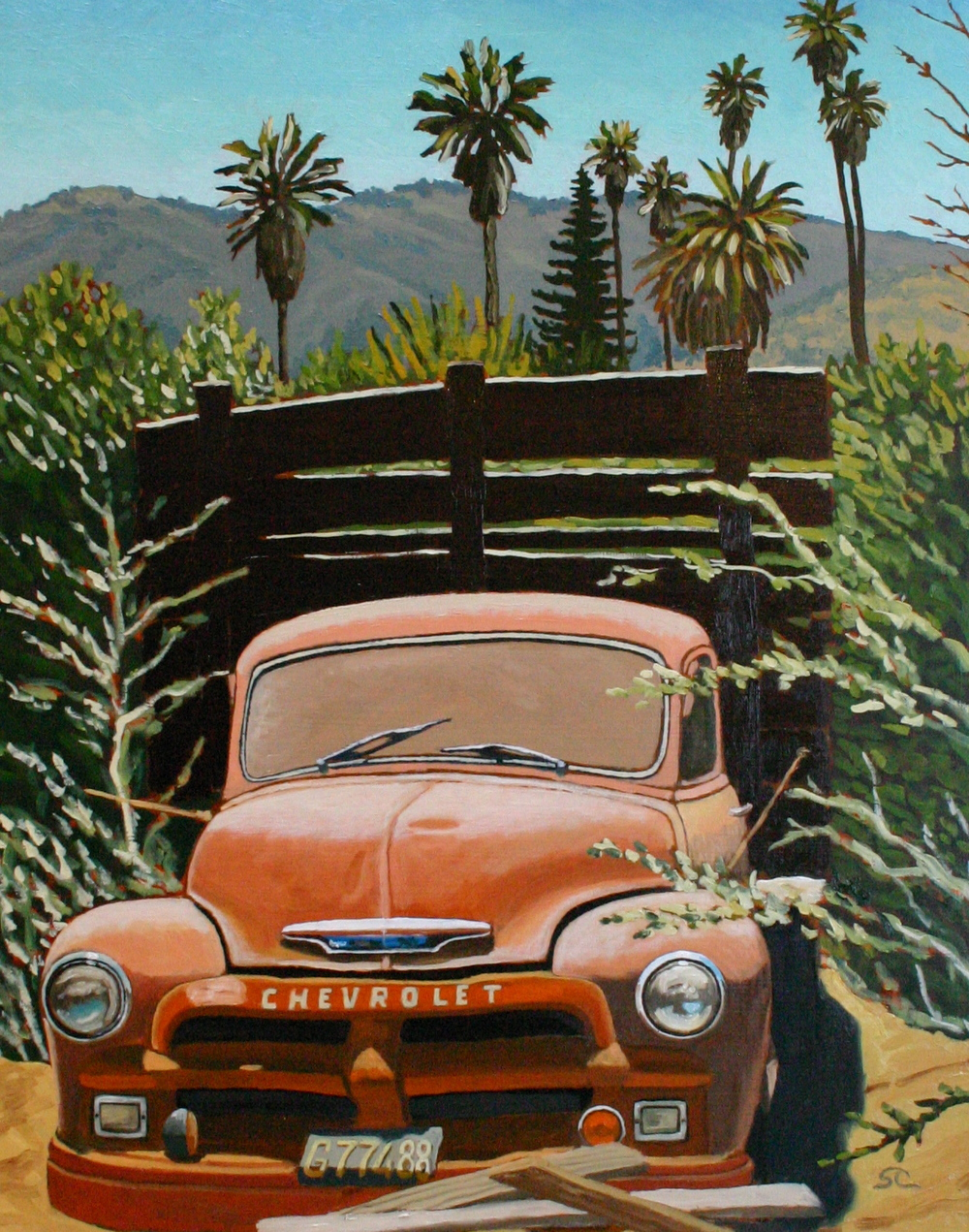"""Dusty Rusty Revisited"" oil on panel 24 x 30"