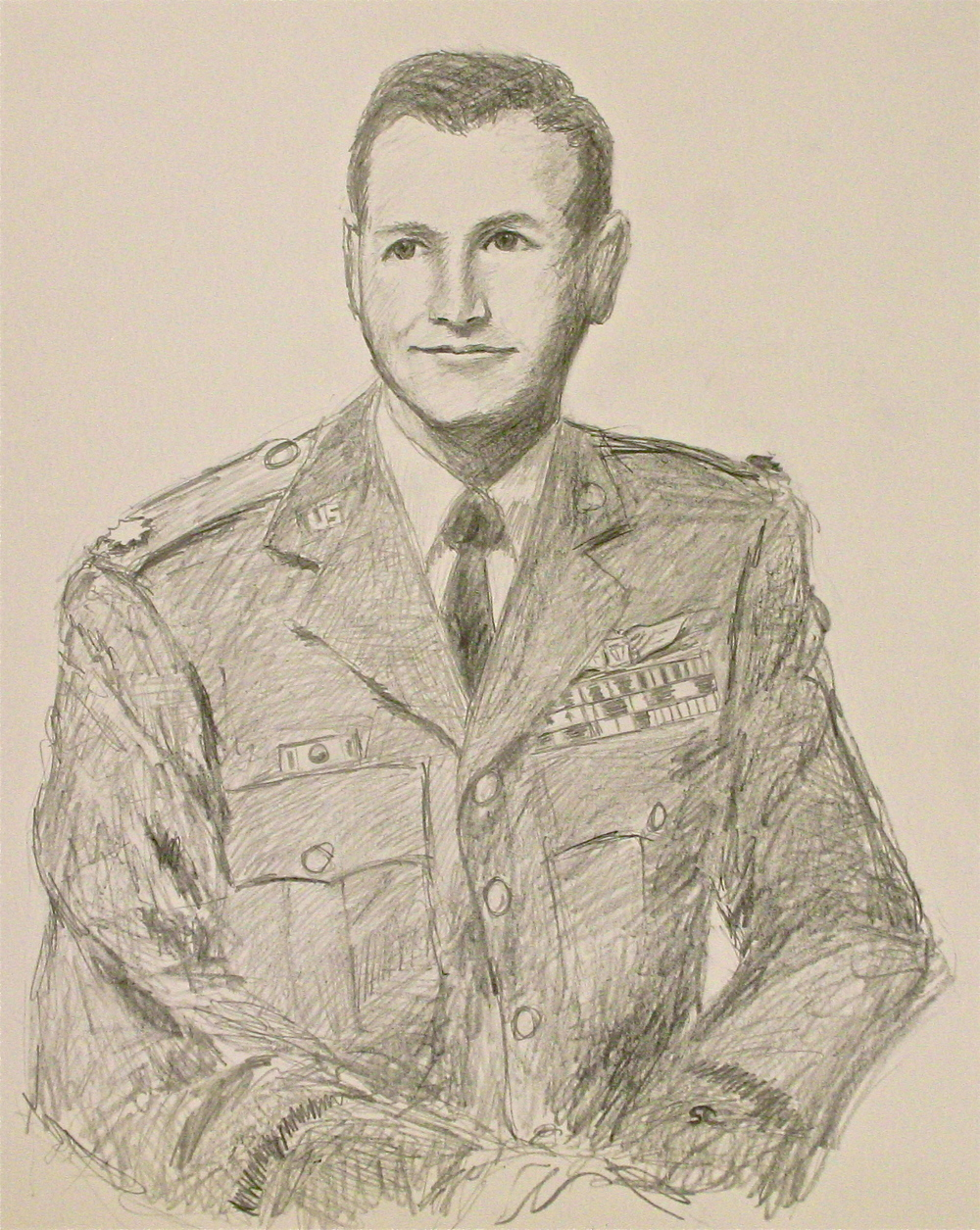 """Young Bob Mize"" graphite on paper, sold."