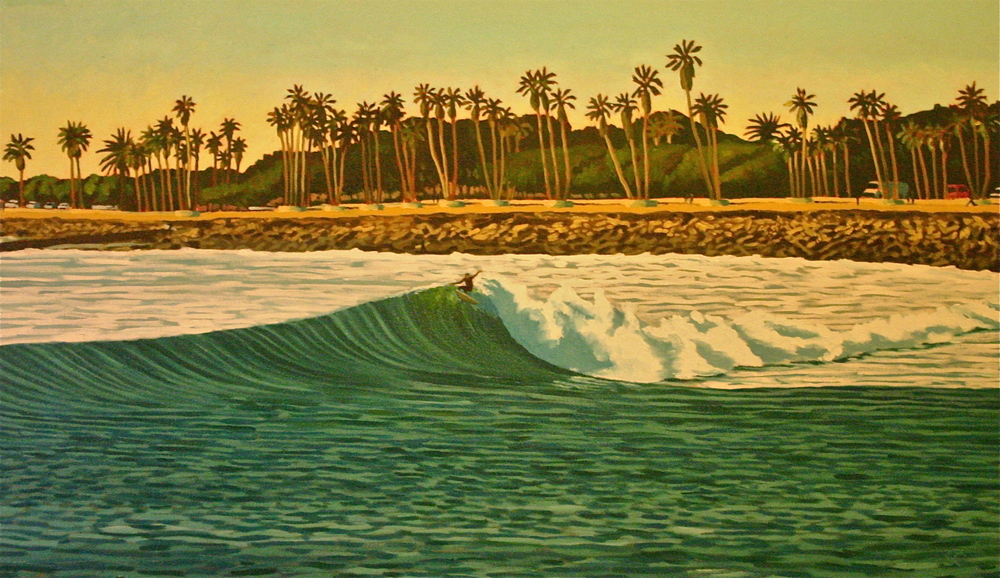 """The Point"" oil on canvas 28 x 48"