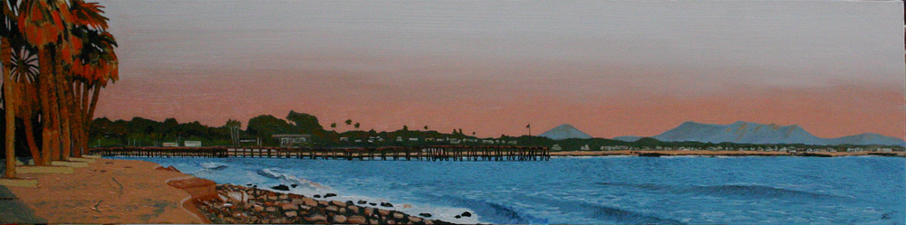 """The Point"" oil on canvas 12 x 48 sold"