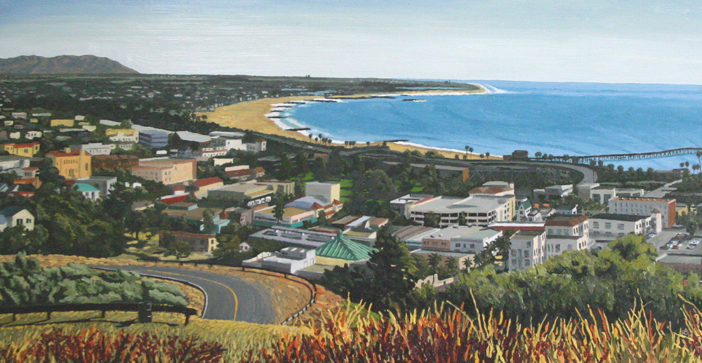 """San Buenaventura"" oil on canvas 24 x 48 sold"